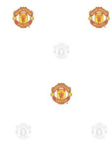 Tapeta na zeď Manchester United FC bílá