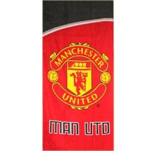 Osuška Manchester United FC červená/černá